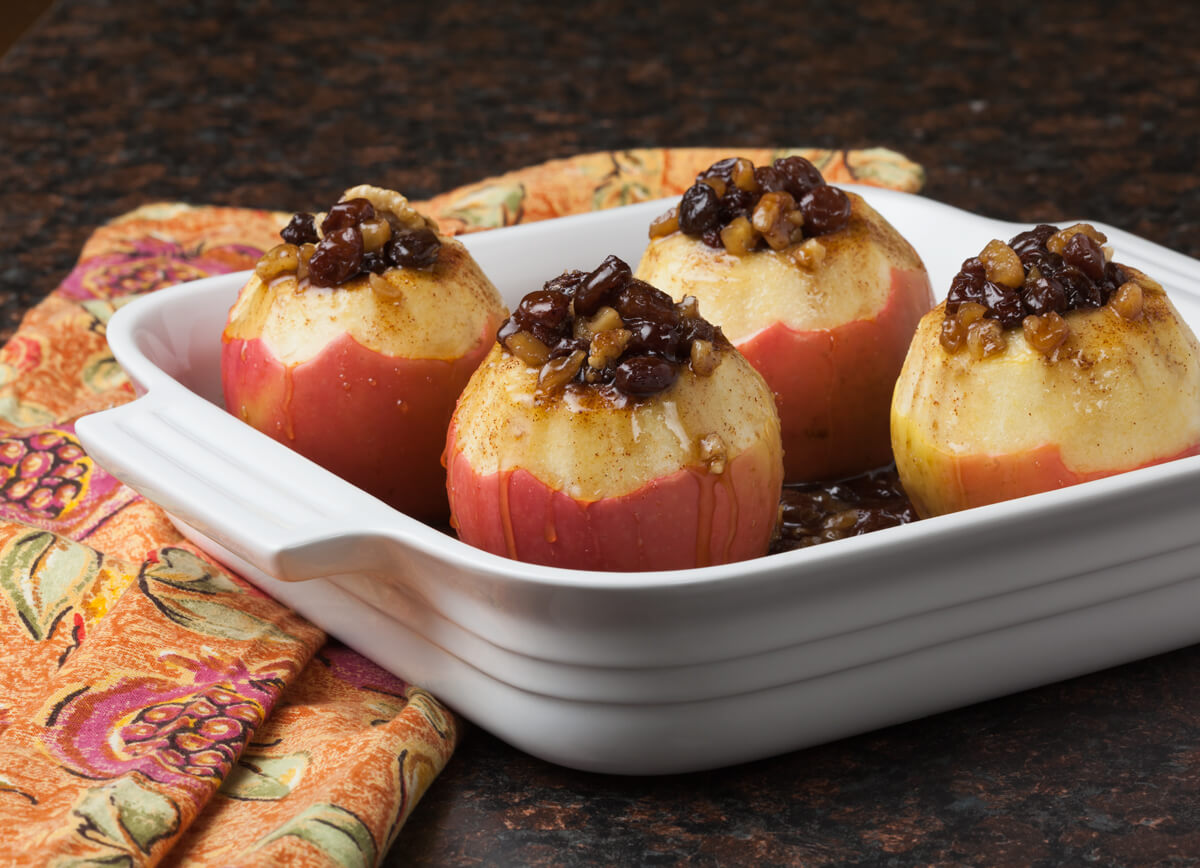 Maple Glazed Baked Apples