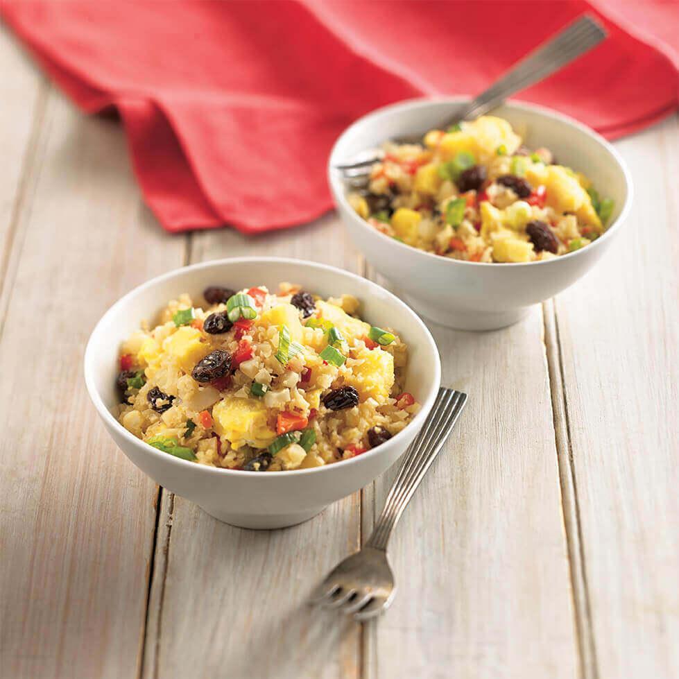Pineapple Raisin Cauliflower Stir Fried Rice