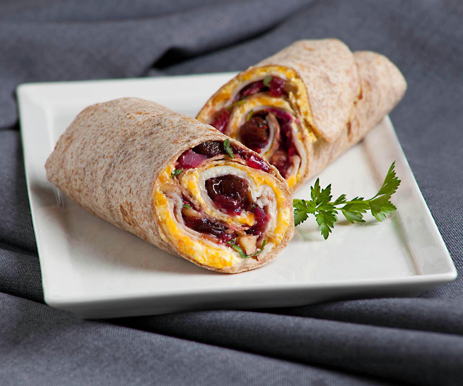 Cranberry-Raisin Turkey Wrap