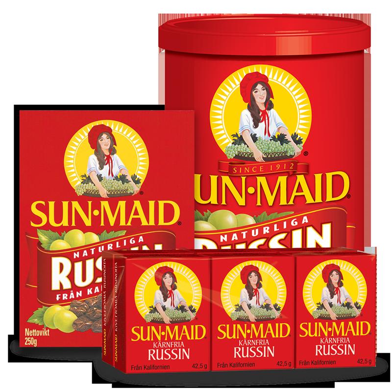 Sortimentsbild Sun-Maid russin